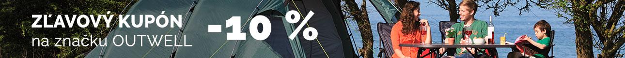 Extra zľava -10% na značku Outwell - leto