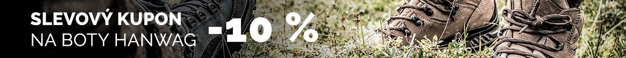 Slevový kupón -10% na boty HANWAG