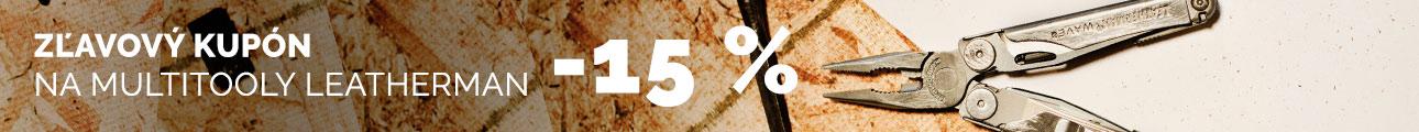 Zľavový kupón -15% na Multitool LEATHERMAN