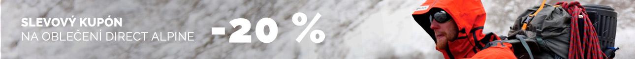 SLEVOVÝ KUPON -20 % na oblečení DIRECT ALPINE - zimní