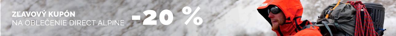 ZĽAVOVÝ KUPÓN -20 % na oblečenie DIRECT ALPINE - zimní