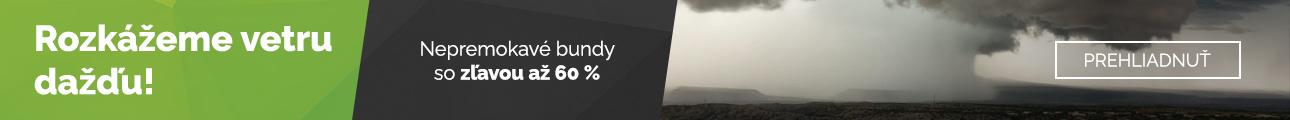 Nepremokavé bundy - zľavy až 60 %