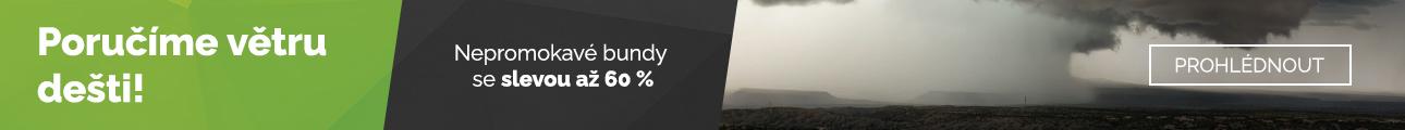 Nepromokavé bundy - sleva až 60 %