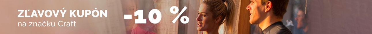 Extra zľava - 10% na značku CRAFT