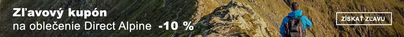 EXTRA ZĽAVA -10% na oblečenie Direct Alpine