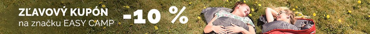 Extra zľava -10% na značku EASY CAMP - leto