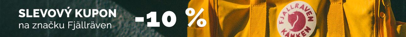 Extra sleva - Sleva 10% na značku Fjallraven
