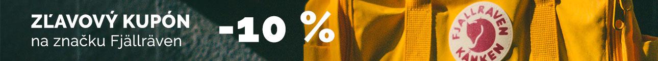 Extra zľava - Zľava 10% na značku Fjällräven