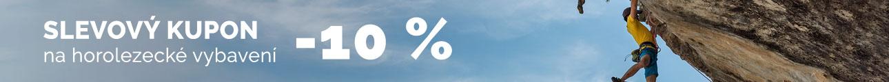 Slevový kupon - 10% na HOROLEZECKÉ VYBAVENÍ