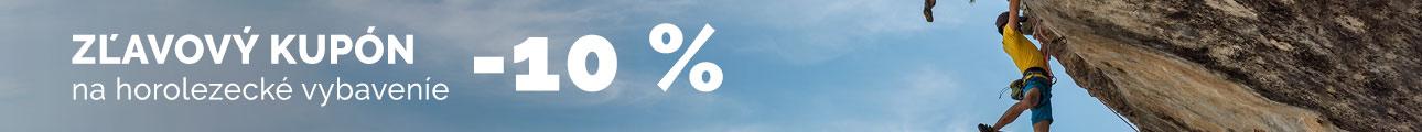 Zľavový kupón - 10% na horolezecké vybavenie