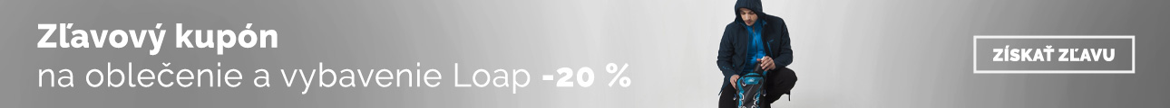 Extra zľava -20% na oblečenie a vybavenie Loap