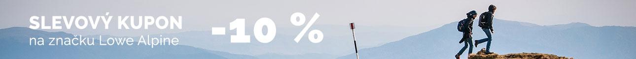 Extra sleva -10% na značku Lowe Alpine