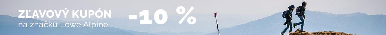 Extra zľava -10% na značku Lowe Alpine