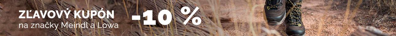 Extra zľava - Zľava 10% Meindl a Lowa