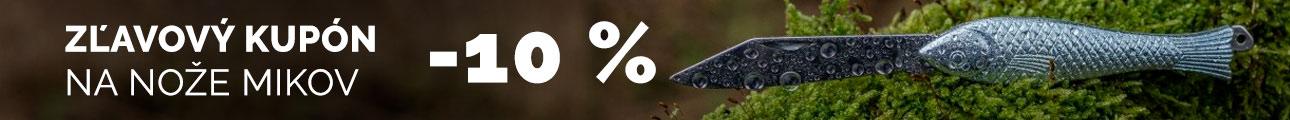 Zľavový kupón 10% na nože MIKOV - leto