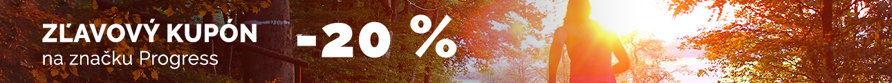 Zľavový kupón -20% na značku PROGRESS
