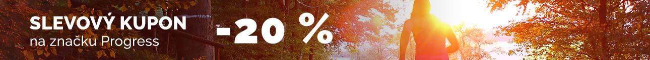 SLEVOVÝ KUPON -20 % na značku PROGRESS