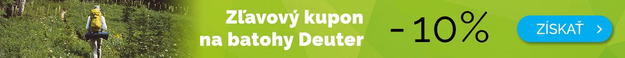 Dlhodobé - EXTRA ZĽAVA -10% na batohy Deuter