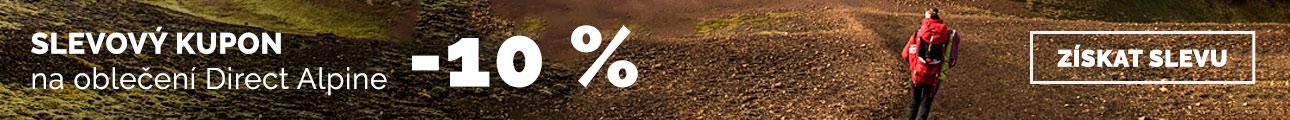 Sleva 10% na oblečení Direct alpine - léto