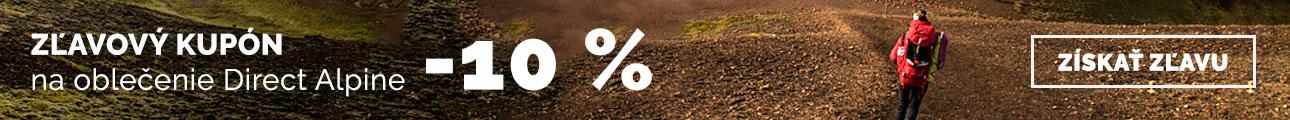 Zľava 10% na oblečenie Direct alpine - leto