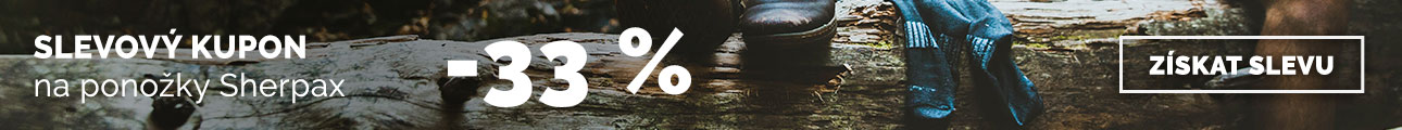 Extra sleva -33% na ponožky Sherpax - léto