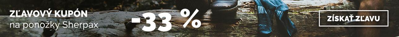 Zľava -33% na ponožky Sherpax - leto