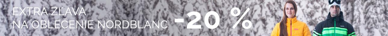 EXTRA ZĽAVA na oblečenie NORD BLANC - 20% - zimní