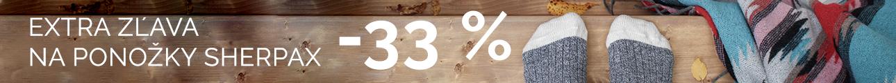 EXTRA ZĽAVA na ponožky SHERPAX - 33% - zimní