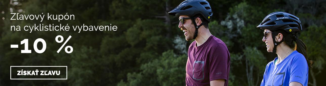 Zľavový kupón -10% na cyklistické vybavenie