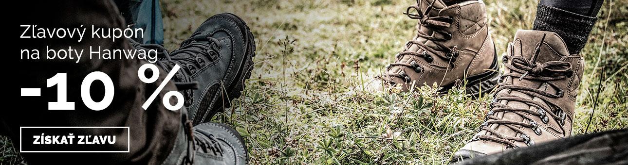 ZĽAVOVÝ KUPÓN -10 % na topánky HANWAG