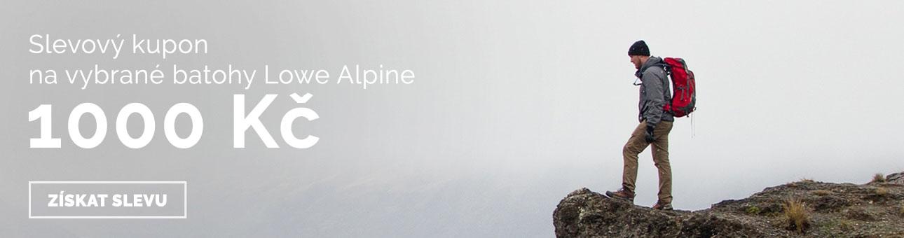SLEVOVÝ KUPÓN -1000 Kč na batohy LOWE ALPINE