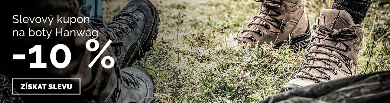 SLEVOVÝ KUPON -10 % na boty HANWAG