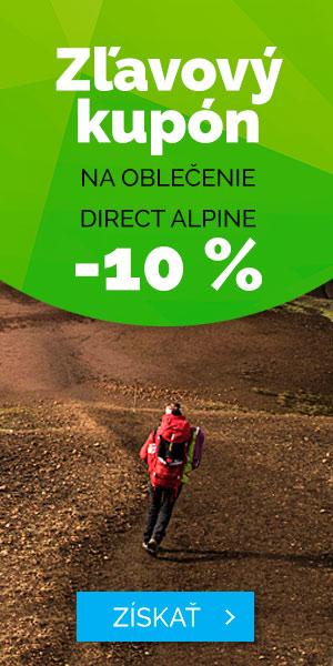 Zľava -10% na oblečenie Direct Alpine - leto