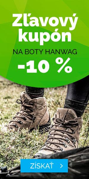 Zľavový kupón -10% na topánky Hanwag