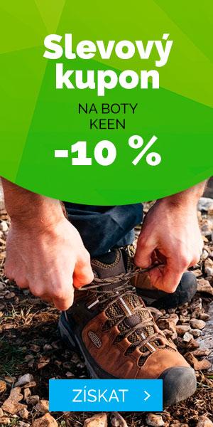 Slevový kupon - 10% na boty KEEN - léto