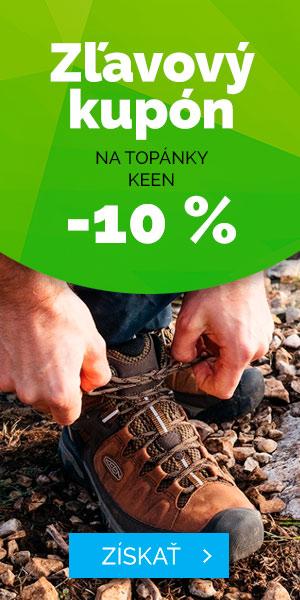 Zľavový kupón - 10% na topánky KEEN - léto