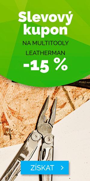 Slevový kupón -15% na multitooly LEATHERMAN