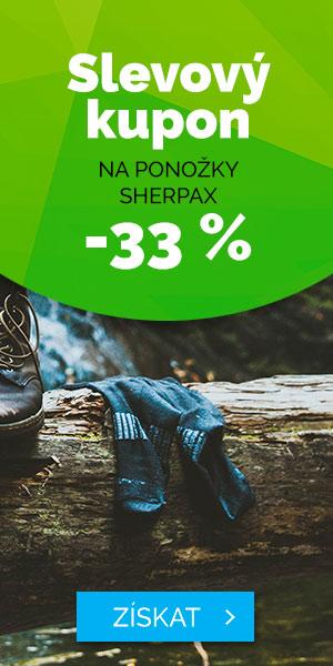 Extra sleva 33% na ponožky Sherpax - léto