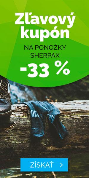 Zľava 33% na ponožky Sherpax - leto