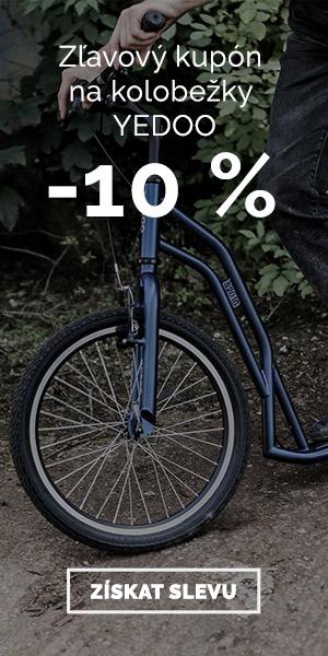Extra zľavy -10% na kolobežky Yedoo