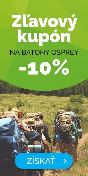 Dlouhodobé - EXTRA SLEVA -10% na batohy Osprey