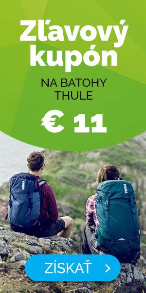 Dlhodobé - EXTRA ZĽAVA -11€ na batohy Thule