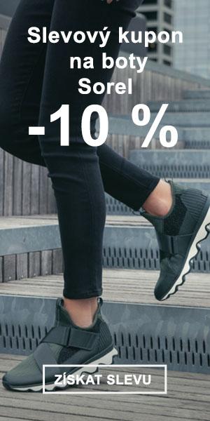 Extra sleva -10 % na značku Sorel
