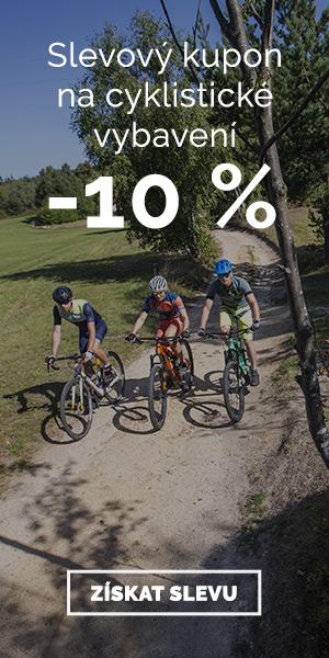 Extra sleva -10% na cyklistické vybavení