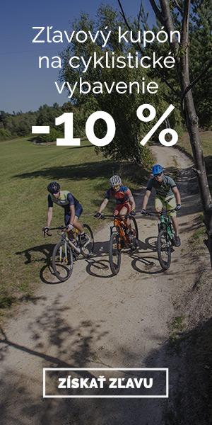 Extra zľava -10% na cyklistické vybavenie