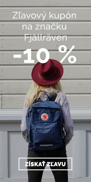Extra zľava -10% na značku Fjällräven