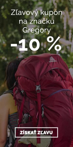 Extra zľava -10% na batohy Gregory