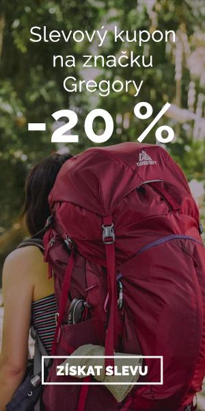 Extra sleva -20% na značku Gregory