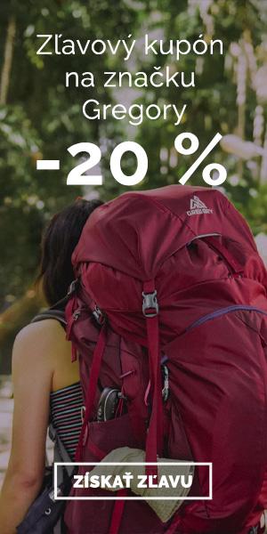 Extra zľava -20% na značku Gregory