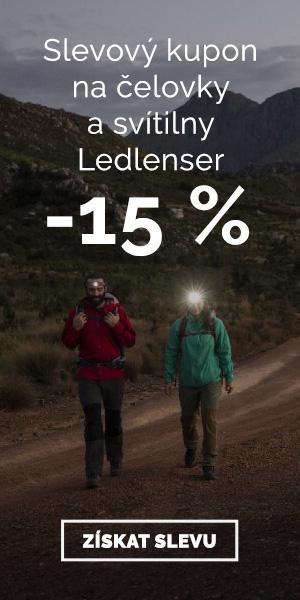 Extra sleva -15% na čelovky a svítilny Ledlenser